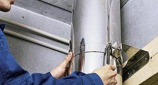 Как установить дымоход