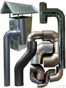 Металический дымоход для газовой колонки